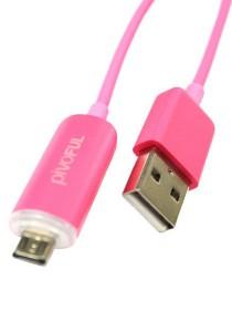 Pivoful Firefly Micro USB Luminous Data Cable (Pink)
