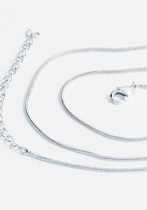 OUXI Platinum Plated Chains Necklace - PCN003