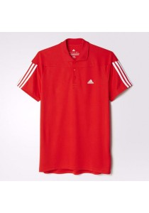 Adidas Base 3-Stripes Polo Shirt (Blue)