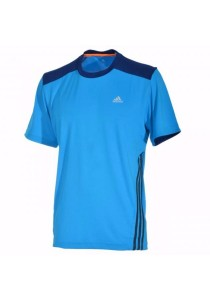 Adidas Striped Mens Round Neck T-Shirt