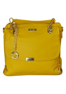 PANGOI Imported and Fully Leather Shoulder Bag PGL-915-001 (Yellow)