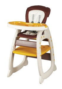 Picardo 'Groovy' 2in1 High Chair (Brown)