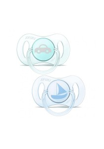 Twin Pack Philips AVENT Pacifiers Blue and Green SCF15101
