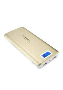 Pineng PN-999 20000mAh Power Bank with LCD Display (Gold)