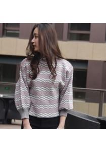 Korean Style Ladies Striped Sweater Shirts
