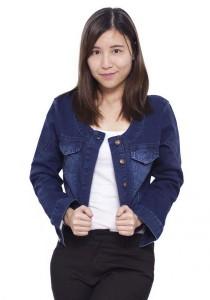 Short Denim Jacket - Blue