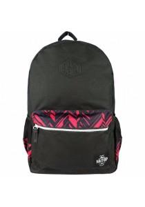 Haitop HB1653 18'' Trendy Backpack (Black/Red)