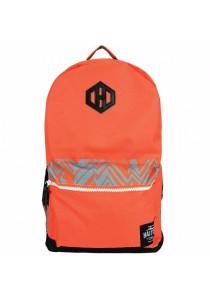 Haitop HB1653 18'' Trendy Backpack (Orange/Grey)