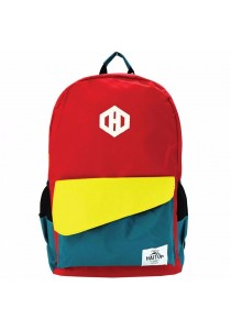 Haitop HB1654 18'' Trendy Backpack (Red/Green)