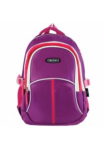 """Haitop HB1656 18"""" Sporty Backpack (Purple/Pink)"""