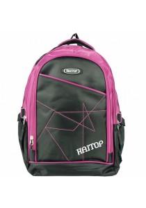 "Haitop HB1657 18"" Sporty Backpack (Black/Purple)"