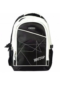 "Haitop HB1657 18"" Sporty Backpack (Black/White)"