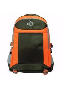 "Haitop HB1658 19"" Trendy Backpack (Green/Orange)"
