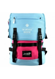 Handry NN1666 20'' Notebook Backpack (Blue/Pink)