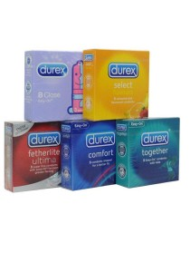 Package B Durex 3 pcs Condom 5-in-1 Pack 15's