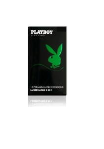 Playboy Condoms Lubricated 3-in-1 12's