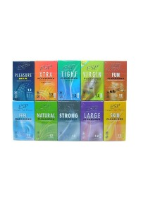 ESP Enjoyable Safe Pleasure Condom 10-in-1 Pack 120pcs