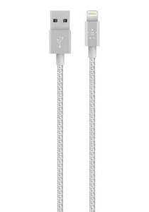 Belkin MIXIT 1.2m Metallic Lightning to USB Cable (Silver)