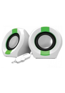 Vinnfier Icon 202 USB Multimedia Speaker (White/Green)