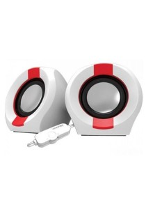 Vinnfier Icon 202 USB Multimedia Speaker (White/Red)