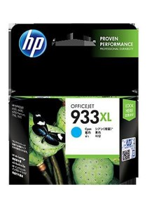 HP 933XL High Yield Cyan Original Ink Cartridge (CN054AA)