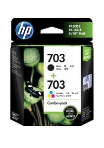 HP 703 2-pack Black/Tri-color Original Ink Advantage Cartridges (F6V32AA)