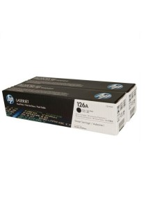 HP 126A CE310AD 2-pack Black Original LaserJet Toner Cartridges