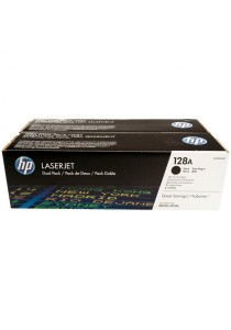 HP CE320AD128A  Black LaserJet Toner Cartridges (2 Pack)