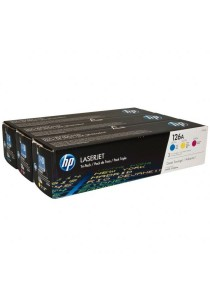 HP CF341A 126A Original Laser Jet Toner Cartridges 3-piece Set