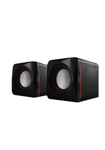 AudioBox U-Cube USB Powered 2.0 Speakers (Red)