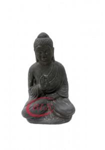 Polyresin Buddha Statue Decor HY033 - Grey Color - Zen Gift