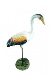 Polyresin Stork Bird - L - Yellow/White - Home Decoration