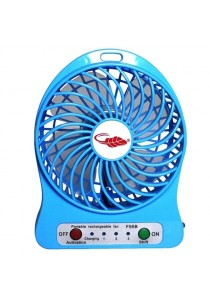 Portable Rechargeable 3-Speed Strong Wind Mini Leaf Fan with LED light
