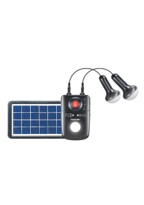 PROLiNK Portable Solar Charger With 2 LED Light 3W Solar Panel 4400mAh Battery PPS80M