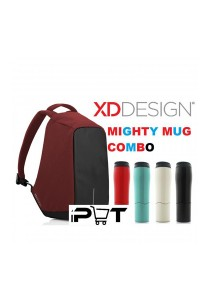 XD Design Anti-Theft Bobby Backpack - Red (Mighty Mug Combo)
