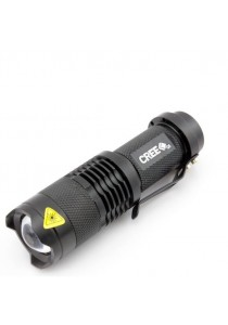 Ultra Bright Torch Light Cree Q5 LED Flashlight Adjustable Focus 3 Modes Outdoor Use