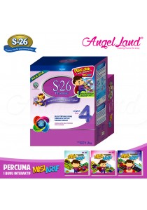 Wyeth S26 Promise Milk Powder Stage 4 (3-7years) 1.2kg + Free 1 Interactive Book MisiArif