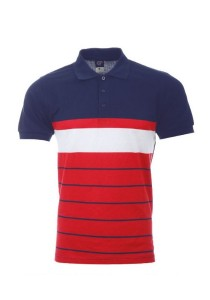 Cotton Polo T Shirt PST 01 03 (Navy Red)