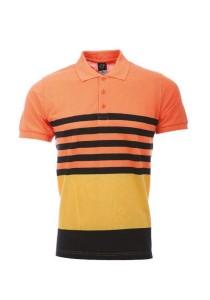 Cotton Polo T Shirt PST 02 01 (Orange/Black)