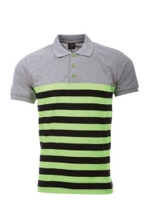 Cotton Polo T Shirt PST 03 03 (Grey Neon Green)