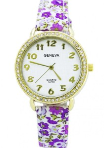 LadiesRoom Summer Floral Quartz Watch (Purple)