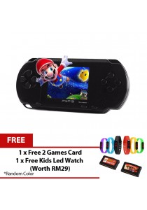 PXP 3 Slim Station Portable Handheld Retro Games with 2 Free Games Card and Led watch