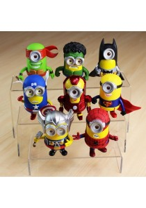 Despicable Me Minion Mini Figure Set Avenger Costume 6 Pcs