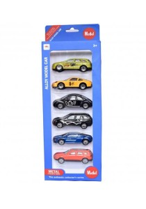 Alloy Model Cars Collection Metal and Plastic Part - 6 Pcs