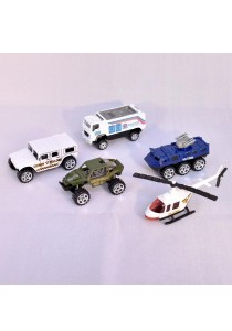Mini 5 Pcs Police Car Collection 1:87 Metal