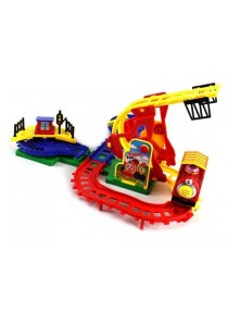 Happy Town Train Fun Electronic Flip-track Action Toy Train Set