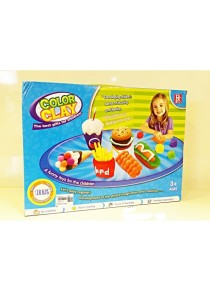 Funny Children Education Color Clay Dough Set of Fast Food