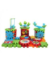 Robo Car Poli Gear Spin Building Block Brick Toy Set for Kids Fashion Block 81 Pcs
