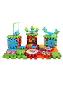 Jurassic World Gear Spin Building Block Brick Toy Set for Kids Fashion Block 81 Pcs