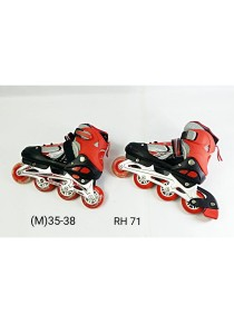 Adjustable Inline Roller Skate - Red Black (M Size)